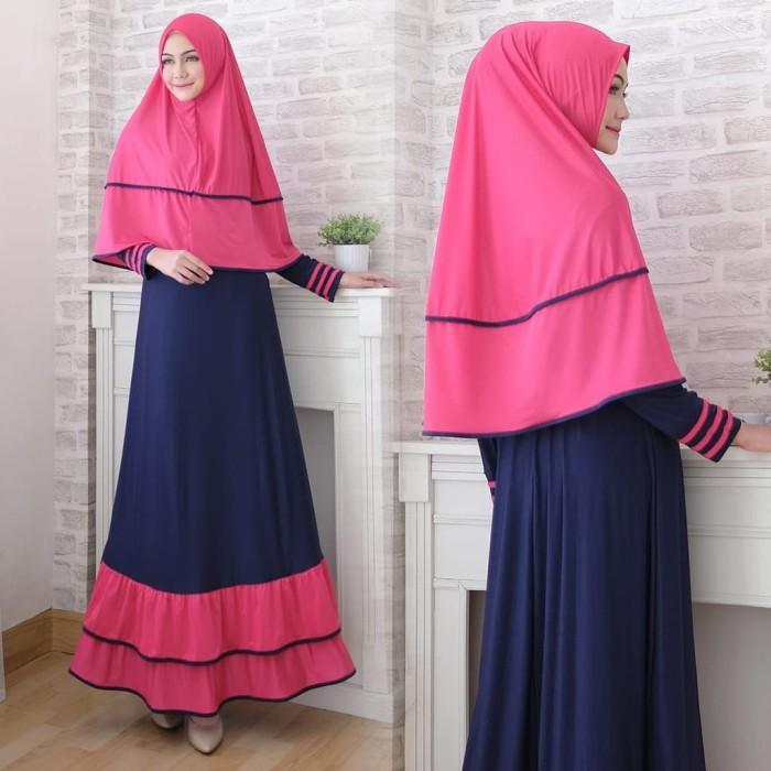 Baju Gamis Syari Wanita Muslimah / Bella Syari'i set - coksu hitam