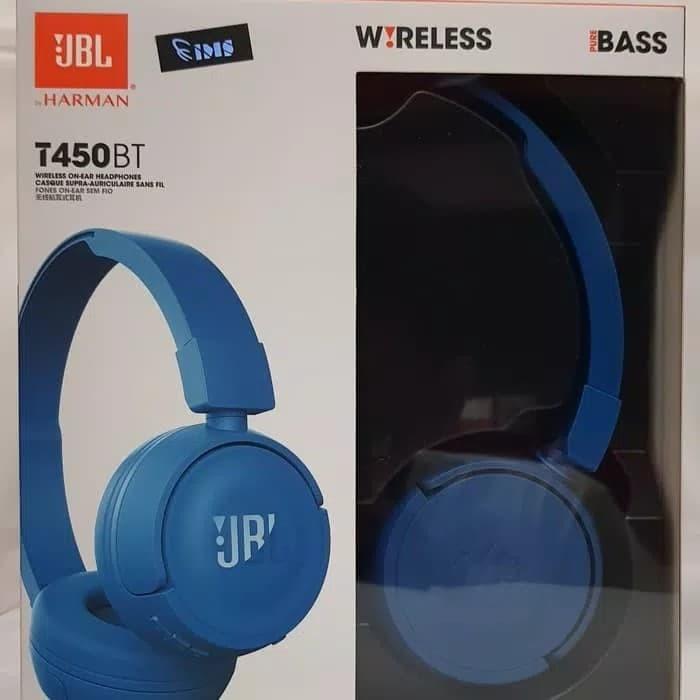 96de66261fb JBL Pure Bass Sound Bluetooth T450BT Wireless Headphones white - Putih -  Biru