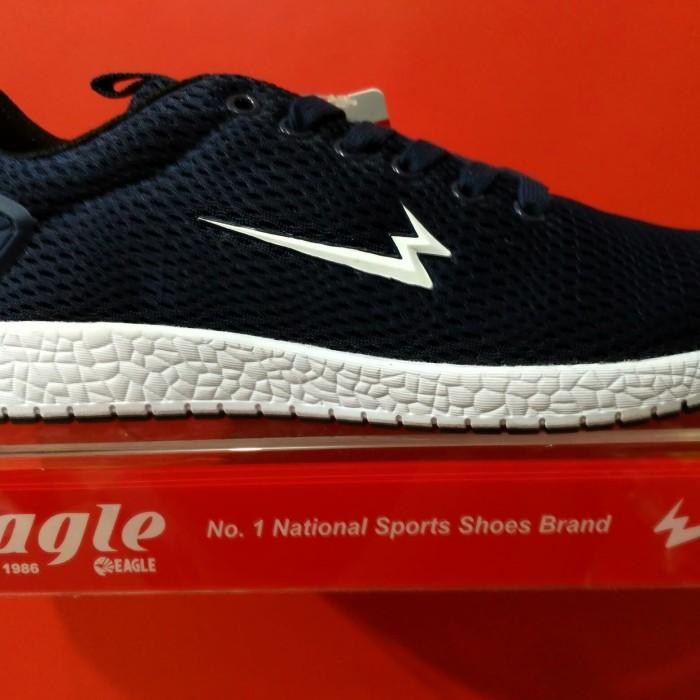 Jual Sepatu Lifestyle Lari Olahraga Kets Eagle PANAMA Navy White ... 64a3056f02