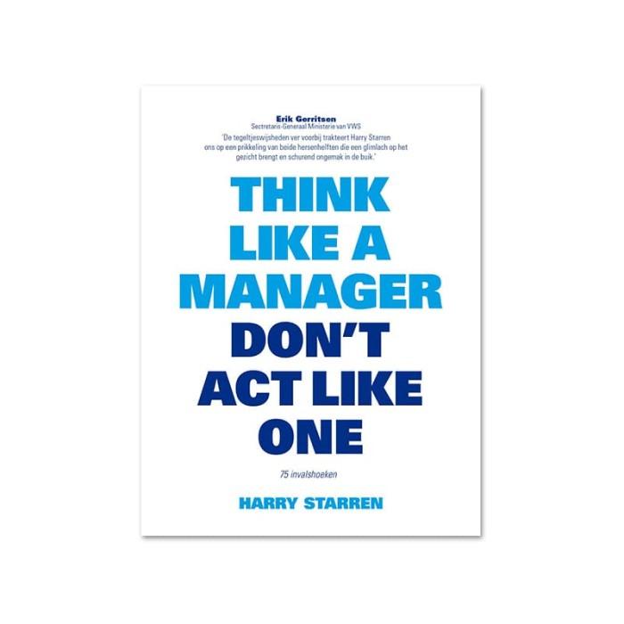 harga Think like a manager dont act like one Tokopedia.com