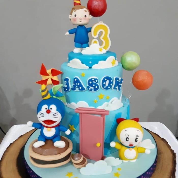 Jual Kue Ulang Tahun Kue Doraemon Birthday Cake Kue Fondant Jakarta Barat Bake Eat Tokopedia
