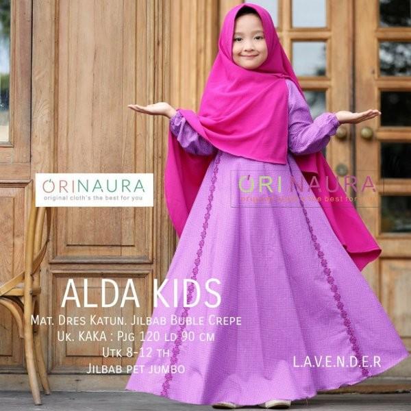 Jual Baju Muslim Anak Gamis Anak Ori Naura Terbaru Alda Kids Plus