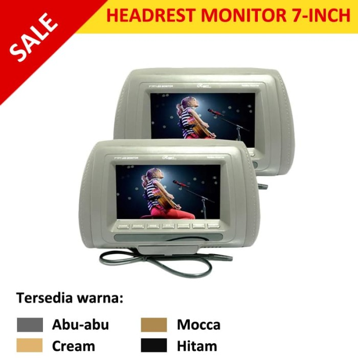 Jual Head Rest Monitor 7 Inch Tv Jok Mobil Monitor Jok Mobil 7 Tft Jakarta Utara Cyber Car Audio Tokopedia