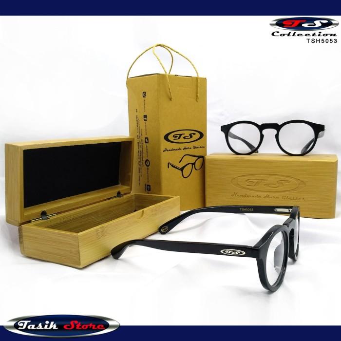 Foto Produk TS Horn Glasses TSH5053 Frame Kacamata Keren Model Sekarang Tanduk dari Tasik Store