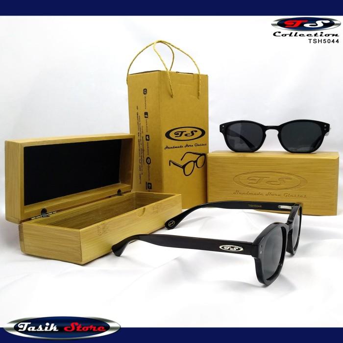 Foto Produk TS Horn Glasses TSH5044 Frame Kacamata Gaya Hitam Pria Wanita Tanduk dari Tasik Store