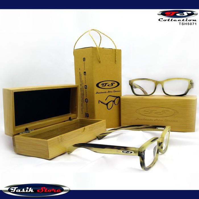 Foto Produk TS Horn Glasses TSH5071 Frame Kacamata Kacamata Anti Radiasi Tanduk dari Tasik Store