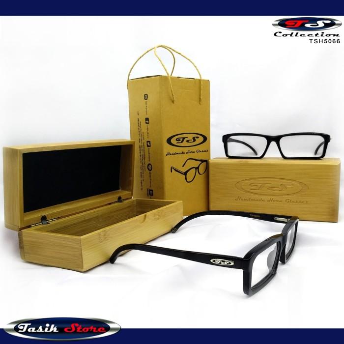 Foto Produk TS Horn Glasses TSH5066 Frame Kacamata Pria Wanita Branded Asli Tanduk dari Tasik Store