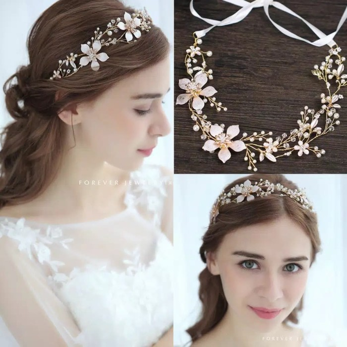 Foto Produk Headpiece Hairpiece Bandana Flower Crown Hiasan Aksesoris Rambut Pesta dari fairystuffs