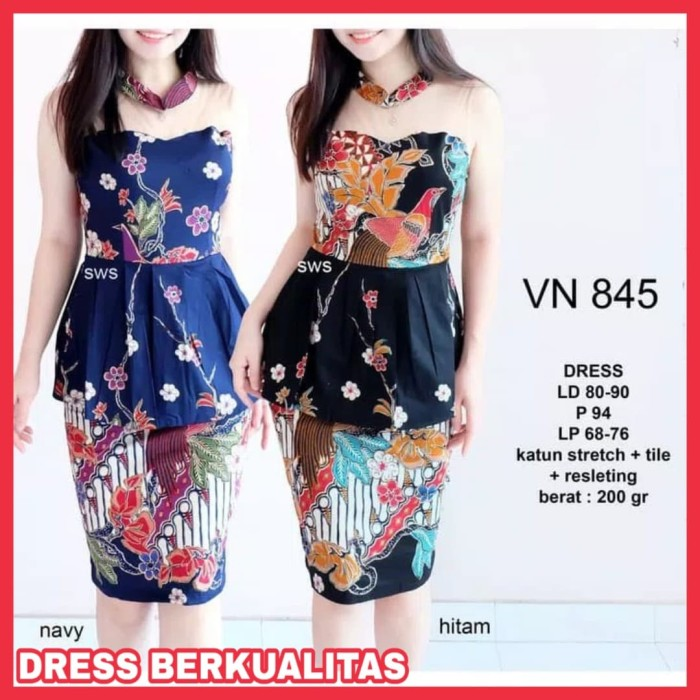 Info Harga Dress Batik Wanita Terbaru Dress Kerja Batik Baju Kerja ... 73605fa543