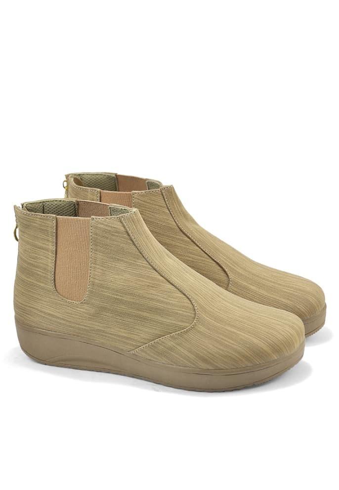 sepatu wanita boots cream j7 sepatu boot cewe pesta main touring dll