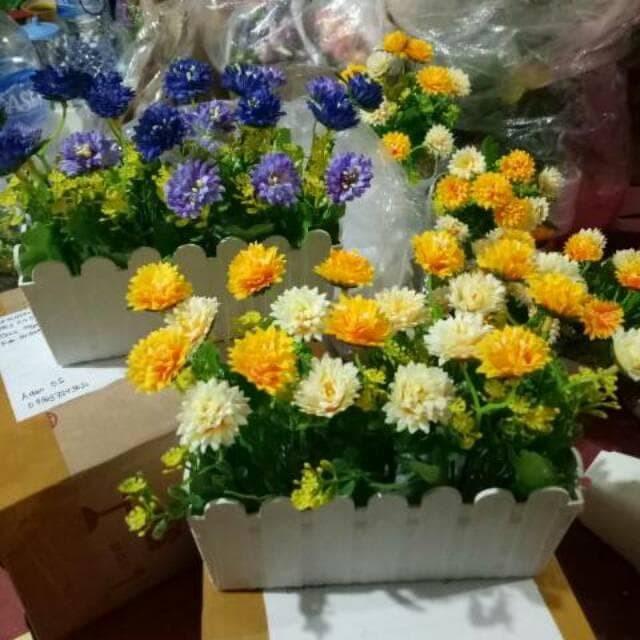 Jual Bunga plastik palsu bunga artificial dekorasi rumah pot bunga ... 01be90e4c5