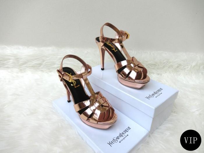YSL Tribute (High Heels) (Sepatu Hak) 10cm - Highest Mirror Replika - Putih d43529648e
