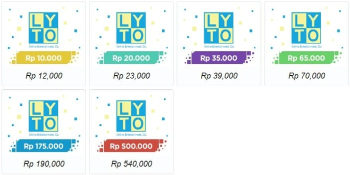 Voucher Lyto Game ON 500.000