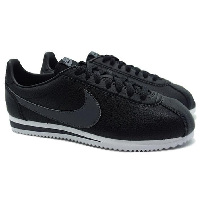 brand new 25215 1c3fa Nike Classic Cortez Leather (Black Dark Grey White) Murah