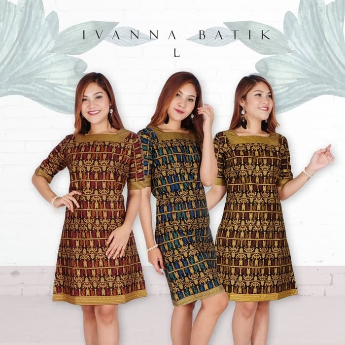 Jual Ivanna Dress Batik Modern Dress Tenun Ikat Ntt Baju Dress Batik Kab Kediri Global Telescope Tokopedia