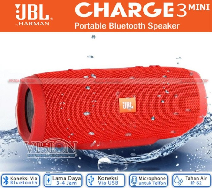 PROMO JBL CHARGE 3 PLUS MINI PORTABLE WIRELESS SPEAKER STEREO SOUND