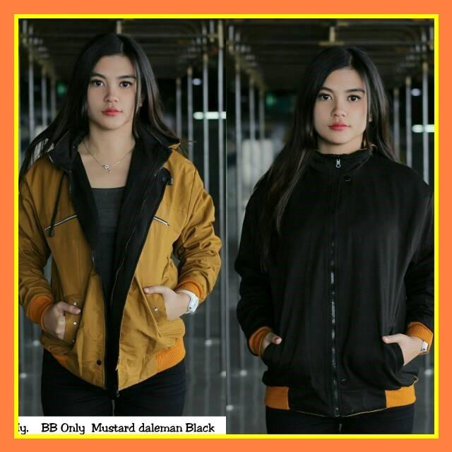 Jaket Bolak Balik Bb Only Wanita Cewek Bukan Dc Adidas Nike Army - Maroon -  Abu 0dd9ddfb08
