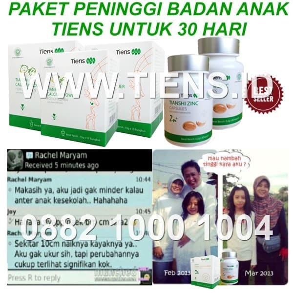Foto Produk Paket Anak 30 Hari Peninggi Badan Kalsium Zinc Tiens Tianshi Herbal dari Stokis Tiens 146 Jakarta