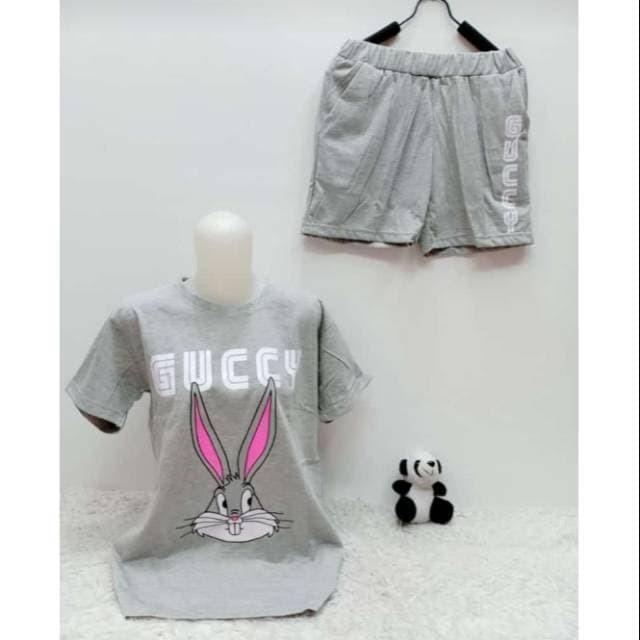 harga Setelan hotpant bunny guuuccciii xl setelan wanita oreenjy Tokopedia.com