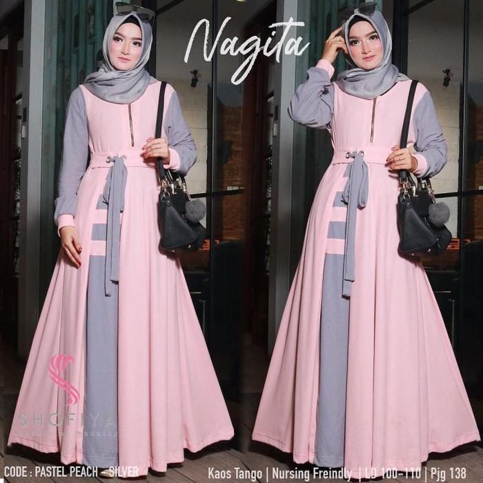 Foto Produk Baju Gamis Syari Wanita Dress Muslim Baju Hijabers Murah Terbaru NG3 dari Grosir Hijabers