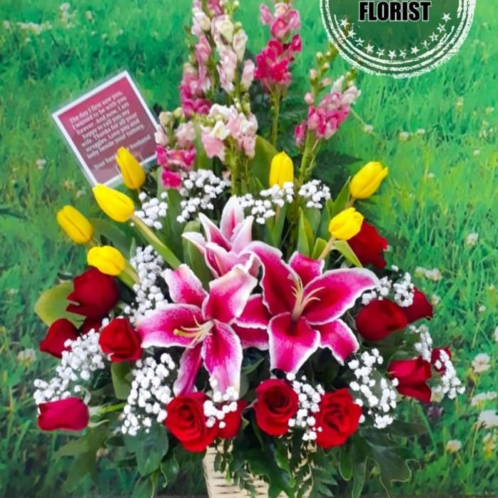 Jual Rangkaian Bunga Mawar Dan Tulip Kado Bunga Ultah Mawar Dan