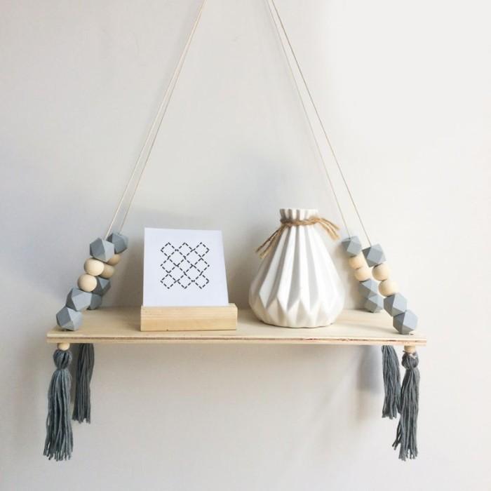 Jual Nordic Style Beads Colorful Wood Shelves With Tassel Wall Clapboard Dki Jakarta Tunal Tuna Tokopedia