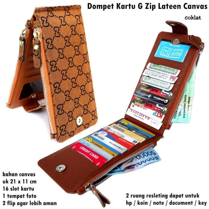 Foto Produk Grosir Dompet Kartu G Zip COKLAT dari pusat grosir tas dompet