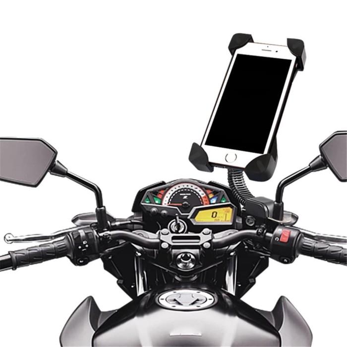 HOLDER HP MOTOR Waterproof Mobile Phone 12v Usb Charger MERK ICC S0996