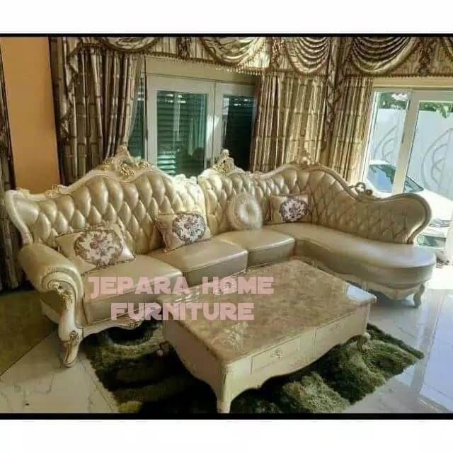 Jual Kursi Sofa Tamu Sudut Mewah Daun Meja Marmer Kab Jepara Jepara Home Furniture Tokopedia