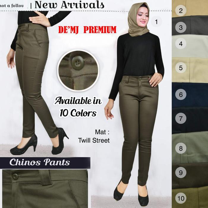 Jual Celana Chino Wanita No List Celana Panjang Wanita Chinos Pants