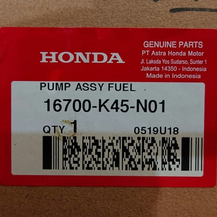 harga Elektrict pump assy cb150 streetfire genuine honda Tokopedia.com