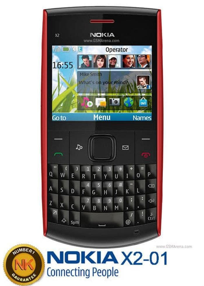 Jual Bagus Hp Nokia X2 01 Handphone Merah Dki Jakarta Xixiv