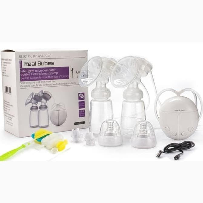 Image result for Real Bubee Double Electric Breast Pump Pompa Asi Elektrik Ganda