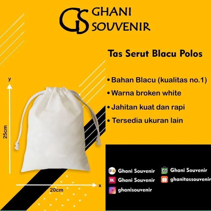 Jual Tas Serut Kecil Blacu Putih Polos Souvernir Pernikahan Ultah Promosi Kab Kudus Ghani Souvenir Tokopedia