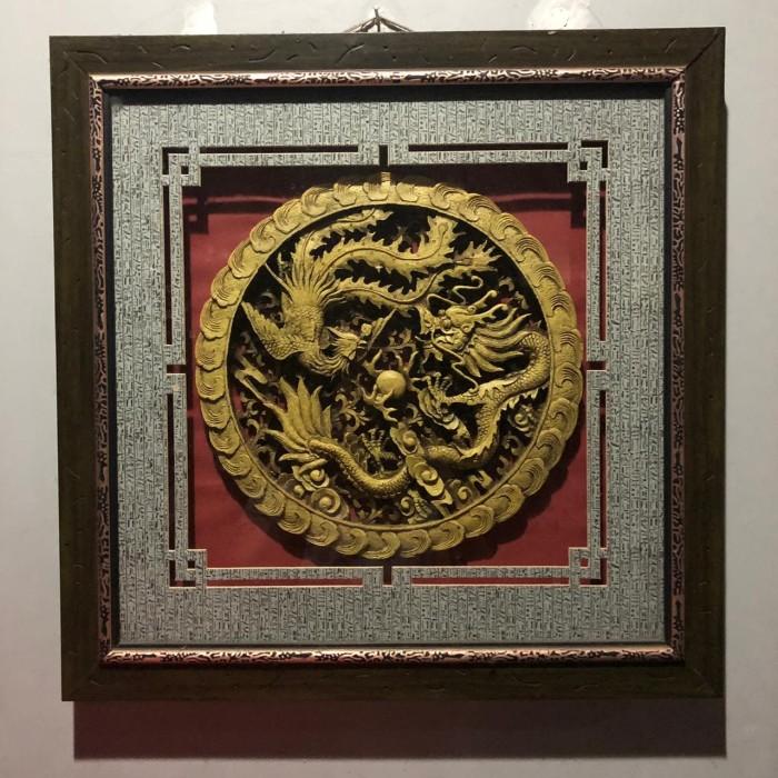 harga Lukisan 3d import china twin dragon Tokopedia.com