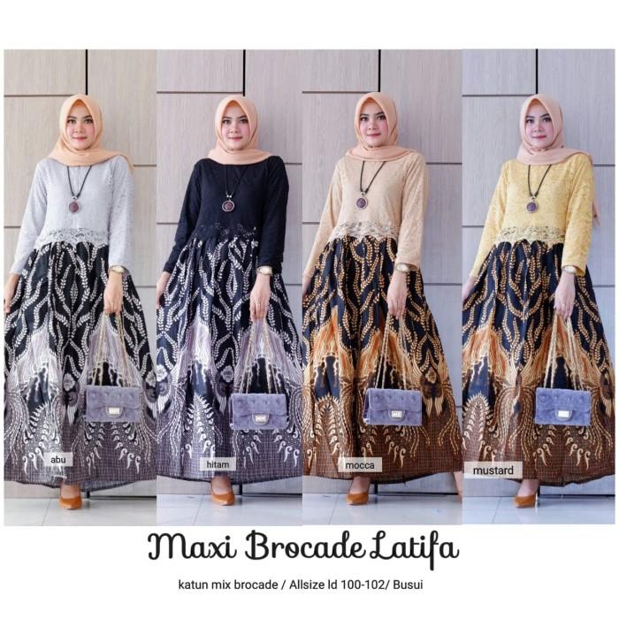 harga Maxi dress brokat batik latifa Tokopedia.com
