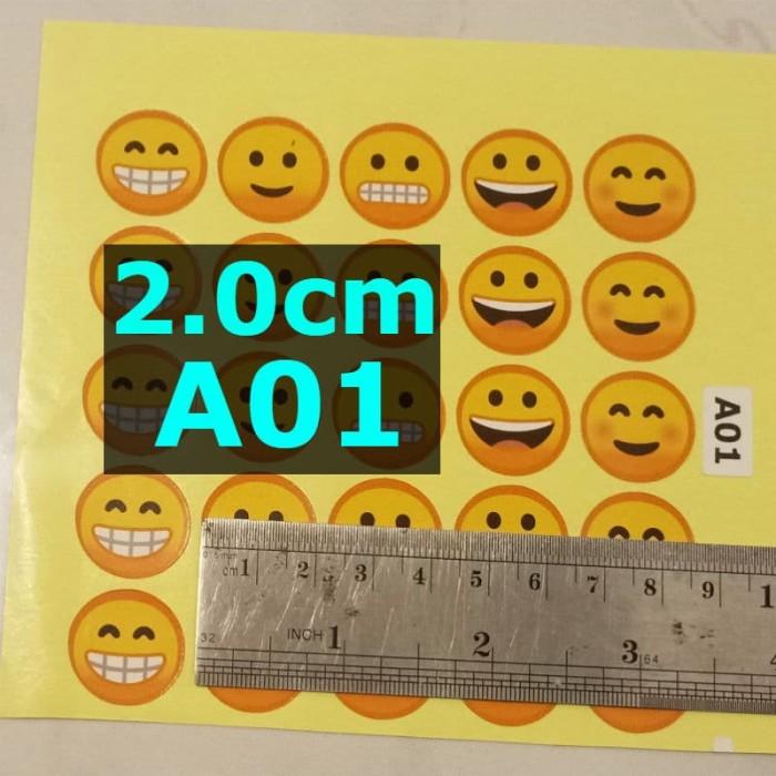 Foto Produk SL A01 SMILEY 2cm Sticker Label Stiker dari belimasbro(dot)com