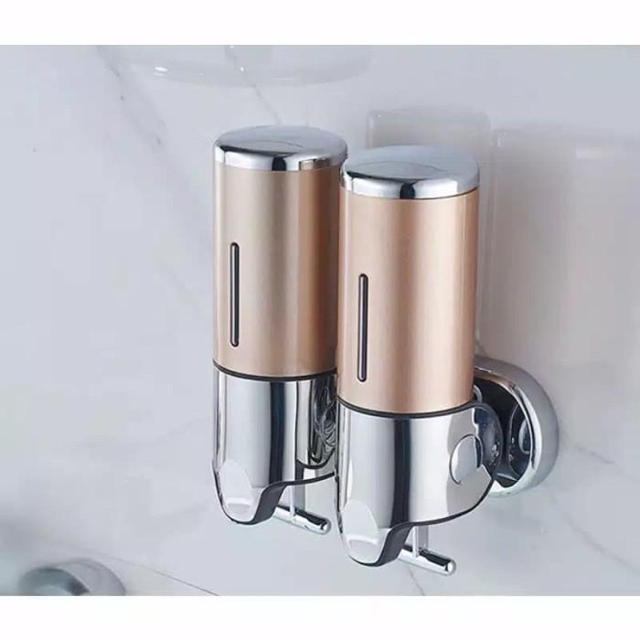 Homivo Dispenser Sabun Cair 1000ml Lock Tempat Sabun Cair 2 Tabung - Putih
