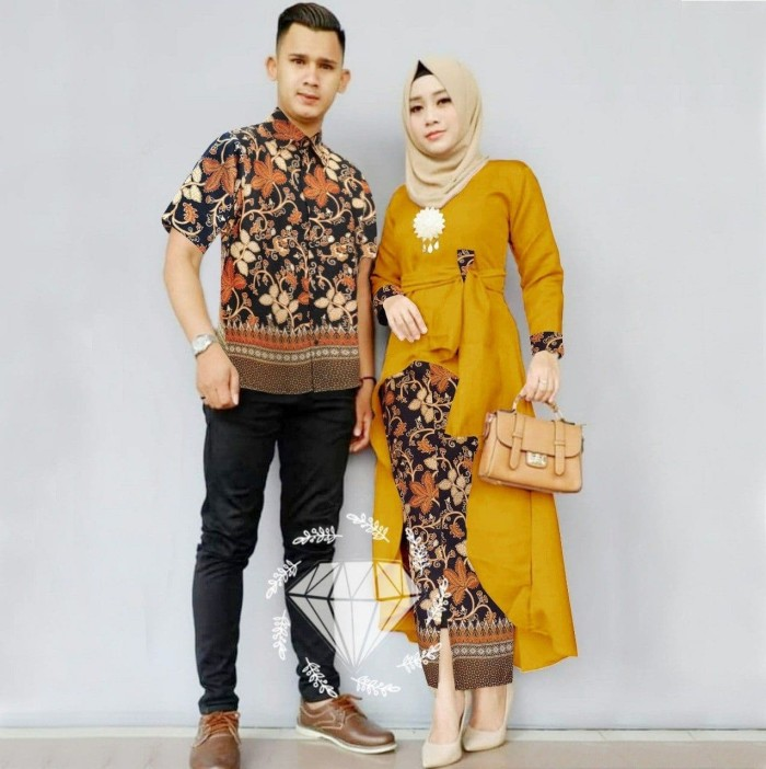Couple Wanita Muslim – Stelan Kebaya Batik Wisuda Modern Couple Hanum b1e1fd7455