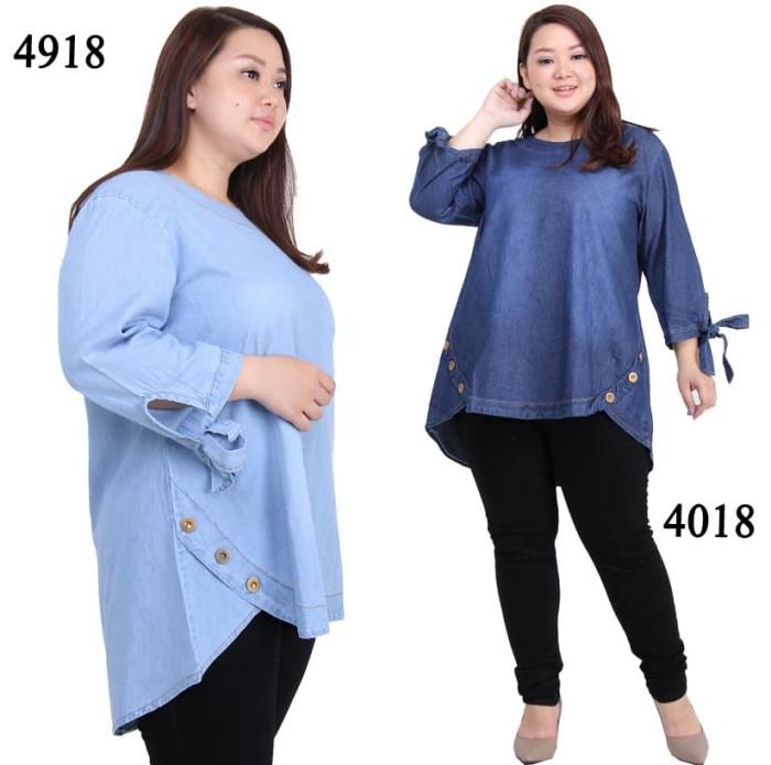 Jual Baju Casual Untuk Wanita Gemuk Blus Terbaru Jumbo Terdekat Murah Biru Muda Jakarta Pusat Sold Out Store Tokopedia