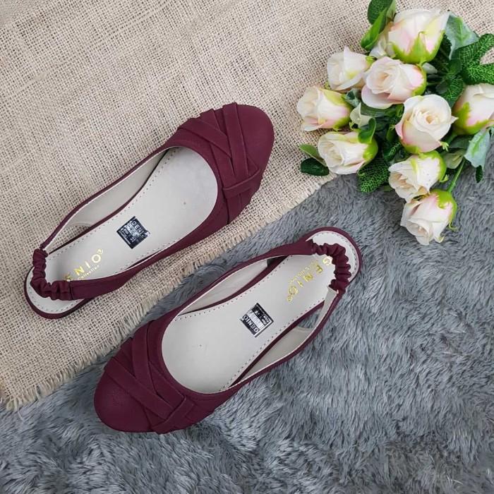 Flatshoes Genio R07 Maroon / Best Seller Flatshoes