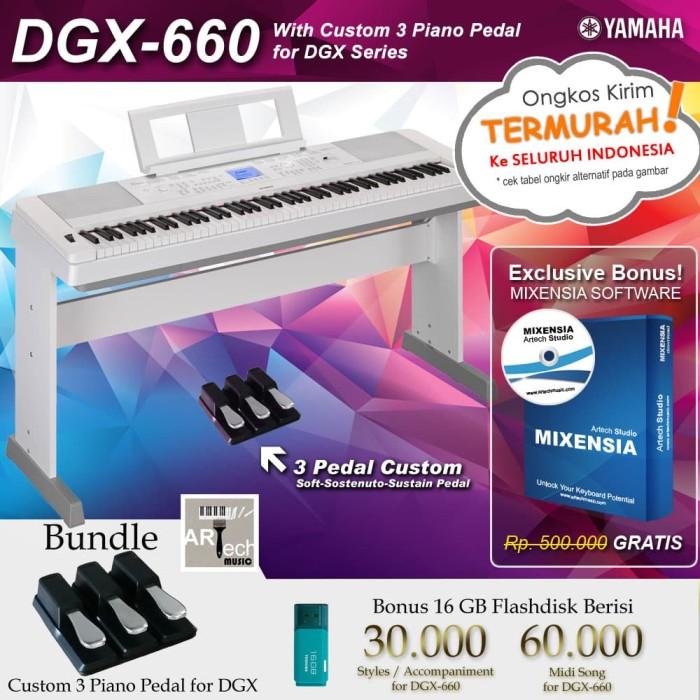 Jual Yamaha DGX 660 With Custom 3 Pedal / DGX-660 / DGX660 - Digital Piano  - Kota Bekasi - ArtTech | Tokopedia