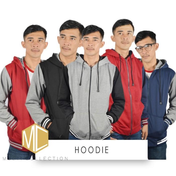 JAKET HOODIE PRIA jaket fleece korea grosir jaket casual supplier