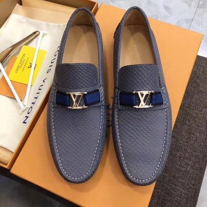 Jual sepatu lv louis vuitton loafer kulit import kw mirror best ... 65523a6b2f