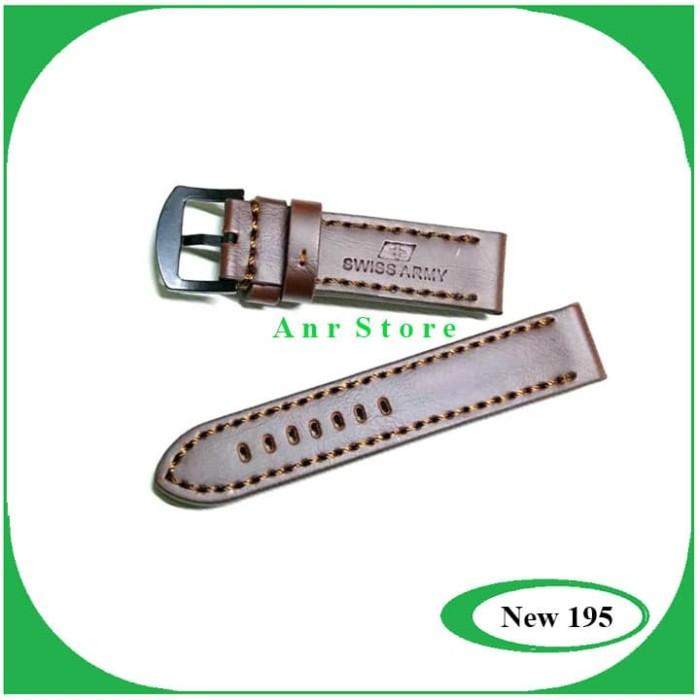 harga Tali kulit jam tangan swiss army coklat free pen 22mm 24mm Tokopedia.com