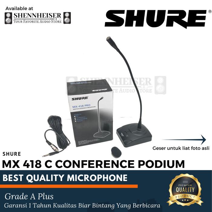 harga Mic shure mx 418c microphone conference podium Tokopedia.com