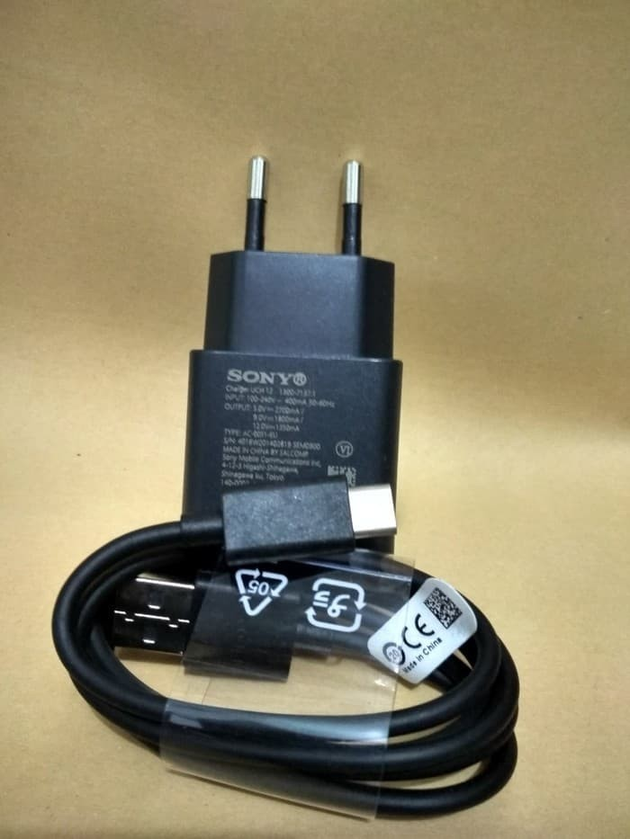 Charger Sony Experia Xz1 Xz Uch 12 Usb Tipe C Quick 3.0 Original Sk - 22