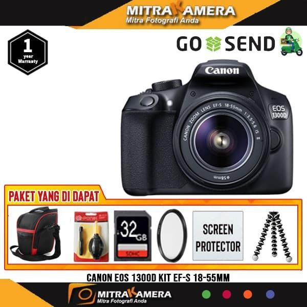 Kamera Canon 1300d Kit 18 55mm F 3 5 5 6 Is Ii Paket