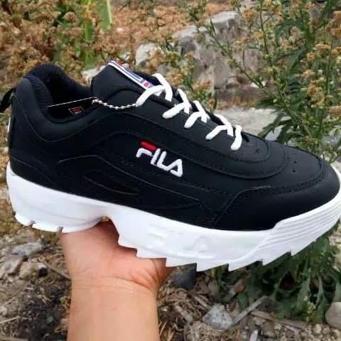 ... harga Sepatu fila sneakers warna hitam putih - black white colors  terlaris Tokopedia.com 4afb927bc9