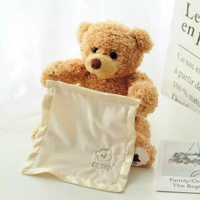 Foto Produk Mainan Anak Boneka BERUANG/BEAR PEEK A BOO lucu dari lovely kayy